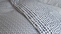 Modern Cotton Blend Duvet Set | Dash Dot Print | Natural Bed Company Double Duvet Set, Monochrome Bedroom, Dash And Dot, Bed Company, King Size Duvet, Duvet Sets, Linen Bedding, Natural, Modern