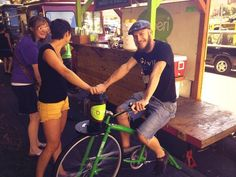 Bike powered smoothies...only in Portland!