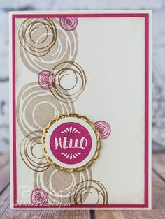 Stampin' Up! UK Feeling Crafty - Bekka Prideaux Stampin' Up! UK Independent Demonstrator: Hello Swirly Bird Card For A Glasgow Team Day
