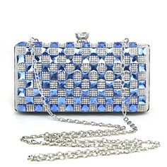 Metal/Rhinestone Special Occasion Clutches/Evening Handbags with Acrylic Diamond (More Colors)