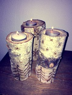 Birch DIY Birch, Candle Holders, Sweet Home, Candles, Diy, Do It Yourself, House Beautiful, Bricolage, Candy
