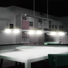 LED LUXUS Pendel Hänge Leuchte Esszimmer Alu Glas Lampe Höhen Verstellbar EEK A…