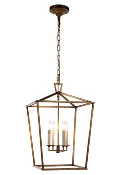 Denmark 4 Light Pendant Lamp In Golden Iron Finish 1422D17GI