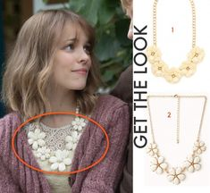 About Time movie: Mary's (Rachel McAdams) flower necklace came from the costume designer's own collection #abouttimemovie #abouttime #getthelook