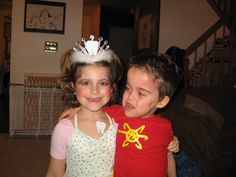 """tooth fairy and """"Jimmy Neutron"""" (red t-shirt and yellow puff paint)"""