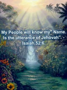 How can you possibly think you could have a close relationship with anyone and not even know their name. God is a title not a name. Jehovah is God's name.