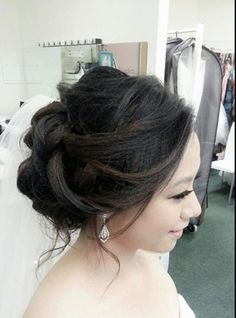 Asian wedding updo