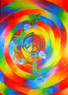 ➳➳➳☮American Hippie Art - Tie Dye Peace Sign