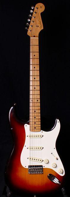 1958 Fender Stratocaster Hardtail 3 Color Sunburst OHSC | Reverb