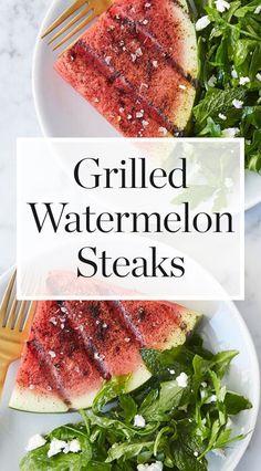 Grilled Watermelon Steaks  #purewow #recipe #summer #food #easy #cooking #vegetarian