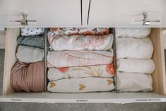 Blair's Closet and Organization Reveal – Karlie Rae Lang Baby Drawer Organization, Girls Closet Organization, Organization Ideas, Closet Ideas, Nursery Twins, Baby Nursery Decor, Nursery Ideas, Nursery Inspiration, Nursery Room