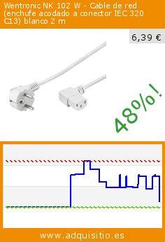 Wentronic NK 102 W - Cable de red (enchufe acodado a conector IEC 320 C13) blanco 2 m (Accesorio). Baja 48%! Precio actual 6,39 €, el precio anterior fue de 12,40 €. http://www.adquisitio.es/wintech/wentronic-nk-102-w-cable