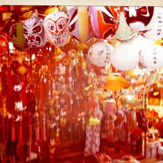 Mid-Autumn Festival lanterns at the market