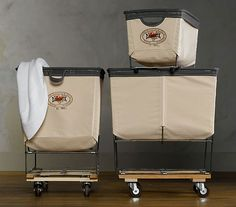 Industrial utility laundry carts..because someday I'll have a laundry room, not a laundromat.