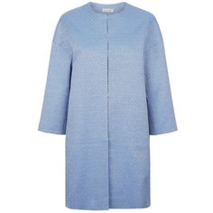Damsel in a dress Milo Coat, Blue (€120) ❤ liked on Polyvore featuring outerwear, coats, checked coat, oversized coat, blue coat, checkered coat and damsel in a dress