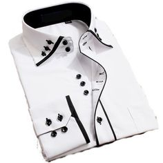 DONT LIKE BUTTONS..... Mens Italian Casual Fancy Collar Slim Fit Formal Designer Shirt Long Sleeve DC04 (M, White) Lyon Becker http://www.amazon.co.uk/dp/B00M9RPQK6/ref=cm_sw_r_pi_dp_pPQzub1GMFNEQ