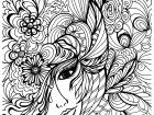 Display image coloriage-visage-et-vegetations