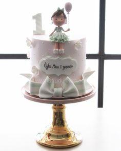 Little one 👗 #sekerhamuru #sugarart #butikpasta #mutludukkan Girls First Birthday Cake, Baby Birthday, Birthday Ideas, Cake Topper Tutorial, Cake Toppers, Pastry Art, Girl Christening, Sugar Art, Let Them Eat Cake