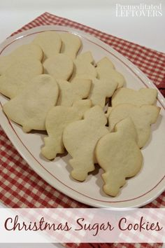 This Christmas Sugar Cookie Recipe produce crisp cookies with a delicious flavor! The dough is easy to roll out and it holds the shapes well for cut outs.