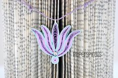 Quilled Paper Pendant  Jewel In The Lotus  by PaperSpirals on Etsy, €21.00