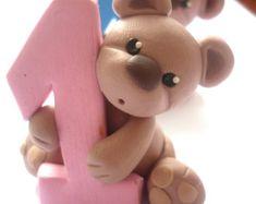 Custom Bear Cake Topper Custom Polymer Clay Bear by Linnypigs
