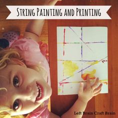 Easy painting craft using some of those extra cardboard boxes lying around. Check out Five Minute Crafts: String Painting and Printing from Left Brain Craft Brain.