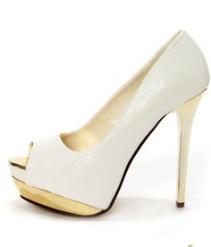 My Delicious Flight White and Gold Peep Toe Platform PumpsLove it! on Chiq $37.00 : Buy Trends on CHIQ.COM http://www.chiq.com/my-delicious-flight-white-and-gold-peep-toe-platform-pumpslove-it
