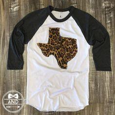 Texas Outline Baseball Tee-Call of the Wild