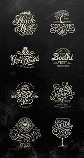 vintage - Typography Logos by Jared Jacob of Sunday Lounge CoDesign Magazine Dailyupdated Magazine celebrating creative talent from around the world Types Of Lettering, Lettering Design, Branding Design, Lettering Guide, Brush Lettering, Logo 3d, Typo Logo, Beste Logos, Graphisches Design