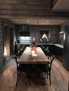 Chalet Interior, Interior Design, Stone House Plans, Open Plan Kitchen Living Room, Dream Decor, Scandinavian Style, Home Decor Inspiration, Kitchen Interior, Home And Living