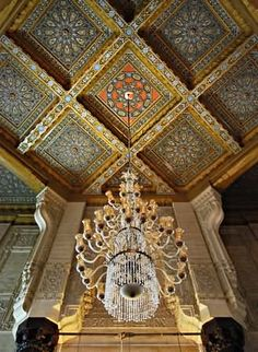 15 Most Beautiful El-Mursi Abul Abbas Mosque, Egypt Pictures And Images Islamic Architecture, Egypt, Most Beautiful, Lion Sculpture, Statue, Ceiling, God, Design, Decor