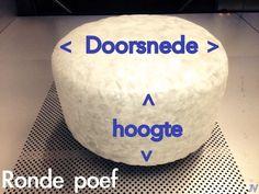Poef vulling rond - Schuimrubberbetaalbaar.nl
