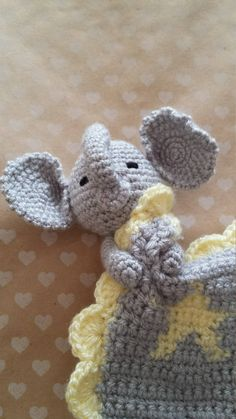 Elephant Lovey. Baby Lovey. Elephant Stuffed Toy. Baby Comforter Elephant Comforter. Baby Shower Gift. Suitable from newborn. by NikkisCrochTreasures on Etsy