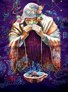 sacred ceremony peru art sagrado arte coca leaves