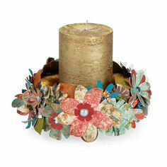 possible wedding centerpiece idea.....just use my lanterns and real flowers