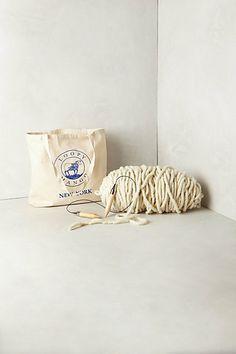 Ribbed Throw Knit Kit #anthropologie