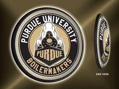 """• Purdue University Officially Licensed  • Made In the USA  • Perfect Gift For Boilermakers Fans, Alumni, Garage, Dorm or Man Cave  • 6' power cord with an in line switch. Mounting hardware included.  • Product Dimensions: 18""""H x 18""""W x 2.5""""D Illuminated Signs, Purdue University, Buick Logo, Wall Signs, 5 D, Man Cave, Dorm, Fans, Hardware"""