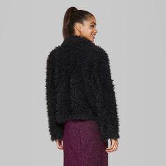 "d11419314e1 Women s Open Drape Cozy Faux Fur Jacket - Wild Fableâ"" 20Cream XL  Cozy"
