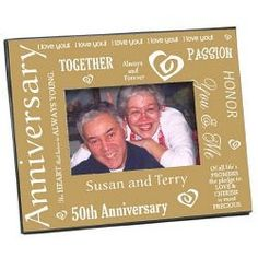 Personalized Engraved Our Golden Anniversary Printed Frame