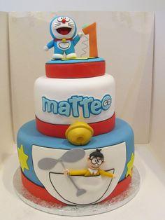 #Torta di #Doraemon in #pasta di #zucchero