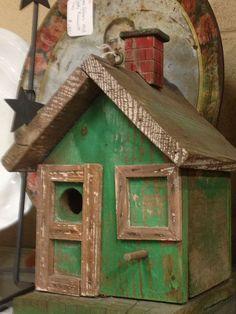 Primitive bird house   For The Birds   Pinterest