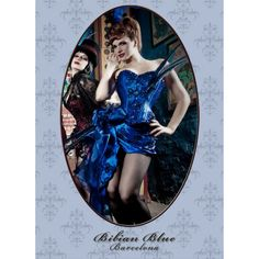 The colour, the fake closures on the busk, the side swept bow skirt.... Aaaah!  Bibian Blue