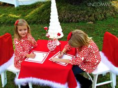 Uncommon Events: Letter to Santa Party { A Free Printable } | after each child has their letter written out, it would be fun to have them mail them together at Macy's