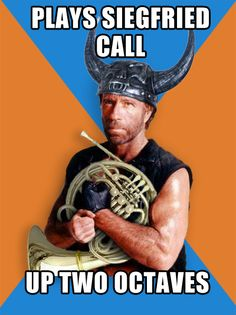 chuck norris and french horn jokes. what's not to love!