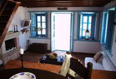 Eirini Luxury Hotel Villas-One bedroom villa - Villas for Rent in Patmos, Egeo, Greece Greek House, Wooden Windows, One Bedroom, Traditional House, Luxury, Villas, Houses, Rooms, Design
