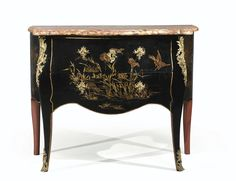 commodes/chest of drawers Laque, Colorful Furniture, Chest Of Drawers, Chinoiserie, Decoration, Antique Furniture, Entryway Tables, Sculptures, Auction