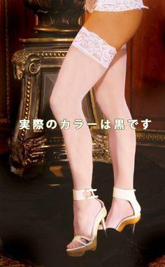 Amazon.co.jp: エレガントモーメント レーストップ 薄手のシアータイプ サイハイ ストッキング EM1721: 服&ファッション小物