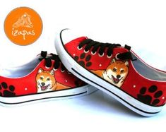 Etsy :: Your place to buy and sell all things handmade Japanese Dog Breeds, Japanese Dogs, Shiba Inu, Chuck Taylor Sneakers, High Top Sneakers, Buy And Sell, Trending Outfits, Unique Jewelry, Handmade