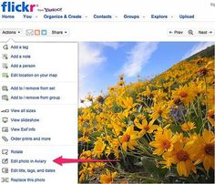 Flickr brings Aviary to help you Crop, Rotate Sharpen, Red Eye reduce etc... to replace Picnik.