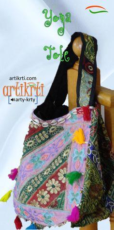 Embroidered Sequin Patch Indian Sari Decorative Cross body Shoulder Bag//Embroidered Hobo Shoulder Bag